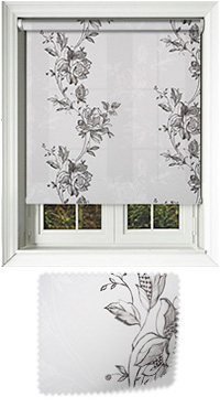 Poetry Charcoal Cordless Roller Blind