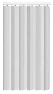 Pula Chalk White Vertical Blind
