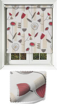 Retro Redcurrant Replacement Vertical Blind Slat