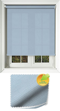Ribbon Solar Blue Cordless Roller Blind