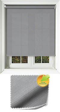Ribbon Solar Pewter Cordless Roller Blind