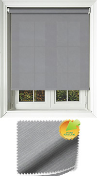 Ribbon Solar Pewter Bifold Doors Blind
