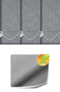 Ribbon Solar Pewter Vertical Blind