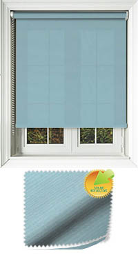 Ribbon Solar Teal Cordless Roller Blind