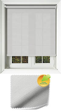 Ribbon Solar White Wooden Blind
