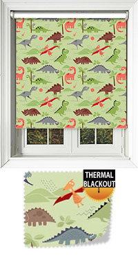 Roar Green Roller Blind