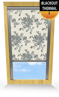 Rosetta Calico Motorised Roller Blind
