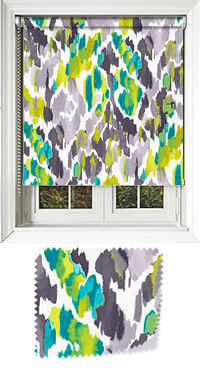 Sassie Green Motorised Roller Blind