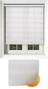 Saxe White Motorised Roller Blind