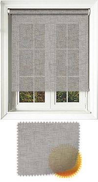 Sheer Grain Dove Grey Cordless Roller Blind