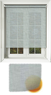 Sheer Grain Duck Egg Vertical Blind