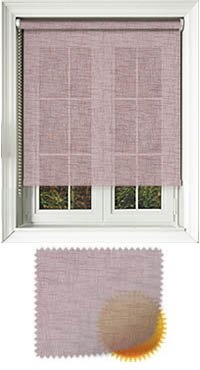 Sheer Grain Elderberry Cordless Roller Blind