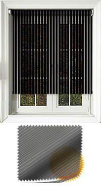 Sheer Stripe Black Venetian Blind