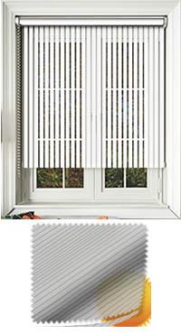 Sheer Stripe White Replacement Vertical Blind Slat