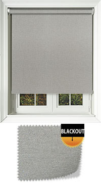 Shimmer Silver Cordless Roller Blinds Fabric Swatch