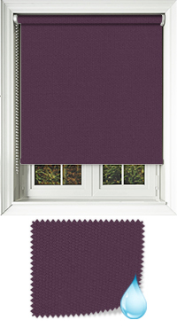 Shower Safe Aubergine Bifold Doors Blind