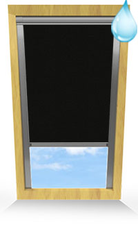 Shower Safe Black Motorised Roller Blind