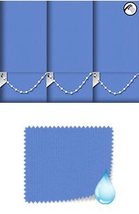 Shower Safe Blue Motorised Roller Blind