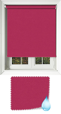 Shower Safe Bright Pink Cordless Roller Blind