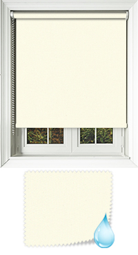 Shower Safe Butter Cream Cordless Roller Blind