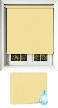 Shower Safe Buttercup Vertical Blind