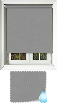 Shower Safe Granite Cordless Roller Blind