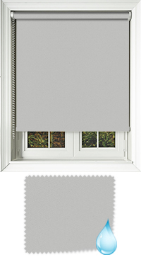 Shower Safe Light Grey Cordless Roller Blind