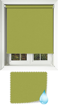 Shower Safe Lime Wooden Blind