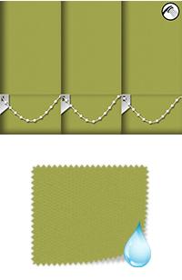 Shower Safe Lime Vertical Blind