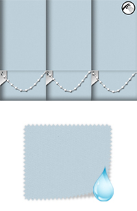 Shower Safe Powder Blue Roller Blind