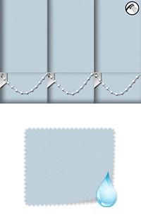 Shower Safe Powder Blue Cordless Roller Blind