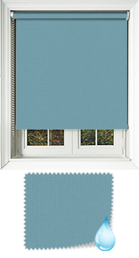 Shower Safe Turquoise Vertical Blind