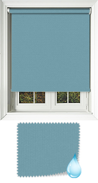 Shower Safe Turquoise Cordless Roller Blind
