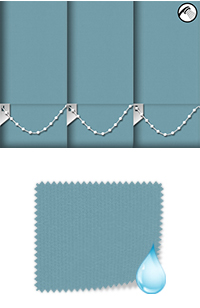 Shower Safe Turquoise Vertical Blind