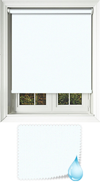 Shower Safe White Roller Blind
