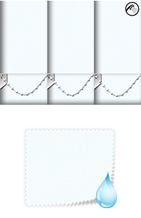 Shower Safe White Cordless Roller Blind