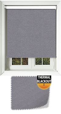 Blackout Thermic Graphite Vertical Blind