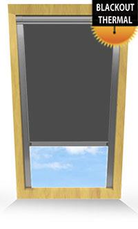 Smoldering Charcoal Skylight Blind