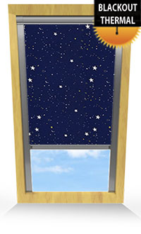 Starry Night Motorised Roller Blind