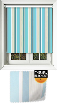 Streak Aqua Motorised Roller Blind