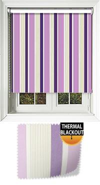 Streak Lilac Bifold Doors Blind