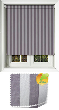 Striation Solar Mulberry Cordless Roller Blind