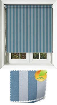striation solar ocean striped roller blinds