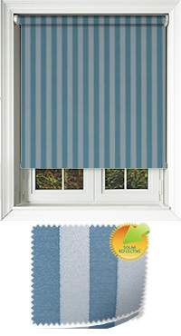 Striation Solar Ocean Roller Blind