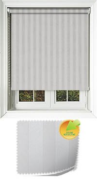 Striation Solar Snowdrop Cordless Roller Blind