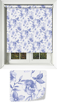 Terrace Chalk Blue Roller Blind