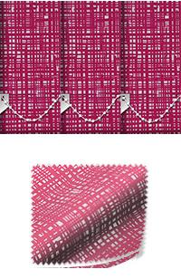 Vignette Fuschia Replacement Vertical Blind Slat