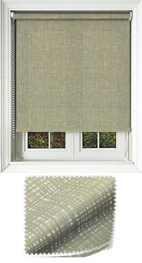 Vignette Green Motorised Roller Blind