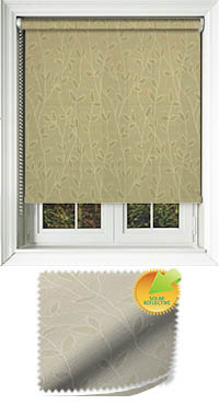 Vines Solar Green Bifold Doors Blind