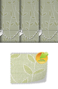 Vines Solar Green Cordless Roller Blind